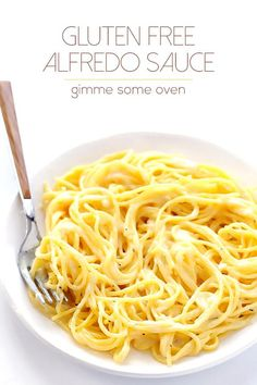 Gluten-Free Alfredo Sauce -- ready to go in 15 minutes, made with easy everyday ingredients, and so good! | gimmesomeoven.com #glutenfree #gf