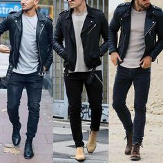 No photo description available. Mens Boots Fashion, Latest Mens Fashion, Smart Casual Menswear, Men Casual, Stylish Mens Outfits, Casual Outfits, Look Man, Leather Jacket Outfits, Herren Outfit