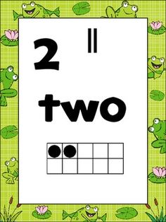 By request-----with horizontal ten frames   Included are 21 number posters centered around a frog theme. These posters can be used as anchor charts to aid in the concept of number.   Each poster includes multiple representations of number. Included are the numeral, ten frame, number word, as well as tally marks.   Posters included for numbers 0-20.