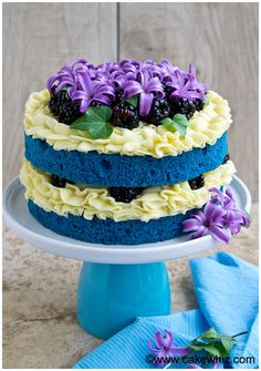 Learn how to make a NAKED BLUE VELVET CAKE with my step-by-step instructions. I have also shared lots of tips to help you along . From cakewhiz.com