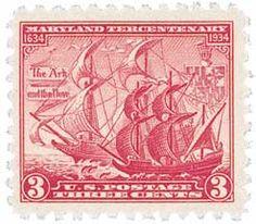 736 1934 3c Maryland Tercentenary