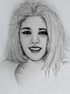 auto retrato, caneta 0.8, A3