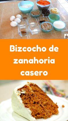 Bizcocho de zanahoria casero ¡Un clásico imperdible! Cooking Time, Cooking Recipes, Cupcake Mix, Cupcakes, Carrot Cake Cheesecake, Moist Carrot Cakes, Pan Dulce, Time To Eat, Great Desserts