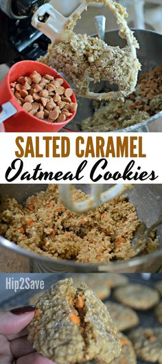 If you're in the mood for some holiday baking, consider these soft and chewy Salted Caramel Oatmeal Cookies!