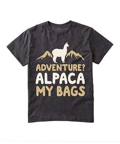Instant Message Heather Charcoal Alpaca My Bags Tee - Toddler & Kids | zulily