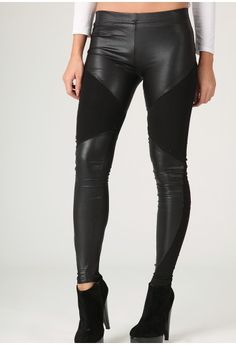 Leather panel leggings - a must!
