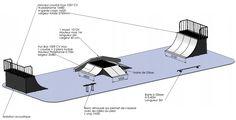 """Résultat de recherche d'images pour """"rampe skate hauteur"""""""