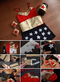 "Follow this tutorial and dress your kid as <a href=""http://fancymade.tumblr.com/post/34240306078/diy-wonder-woman-costume-because-every-girl"" target=""_blank"">Wonder Woman</a> this Halloween."
