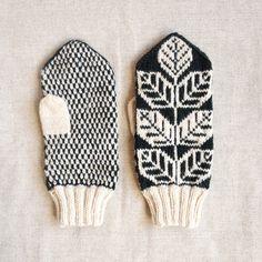 midnight mitten Knitted Mittens Pattern, Knit Mittens, Mitten Gloves, Knitting Patterns, Fair Isle Knitting, Easy Knitting, Knitting Socks, Pattern Print, Print Patterns