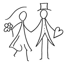 Aida Biermann - Welcome Funny Wedding Cards, Wedding Humor, Wedding Gifts For Groom, Bullet Journal Art, Christmas Drawing, Under The Lights, Stick Figures, Mask Design, Coloring Pages For Kids