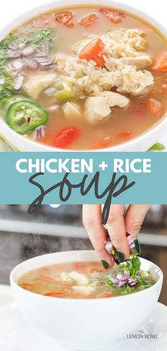 This satisfying, comforting chicken soup recipe is made with tender breast meat, hearty vegetables and aromatic chicken stock. Slow Cooker Chicken Curry, Slow Cooker Soup, Slow Cooker Recipes, Chicken Soup Recipes, Healthy Soup Recipes, Lebanese Lentil Soup, Chicken And Cabbage, Healthy Slow Cooker, Rice Soup