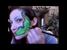 Dinosaur Face Paint - YouTube