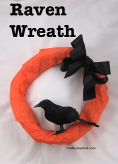 Raven Wreath from a Brown Paper Bag is featured in Gifts, Croissants and Decor: Great DIY Ideas – Feature Friday Favorite Five
