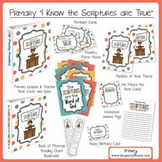 Primary Theme 2016 I Know the Scriptures Are True  ✿ Follow the Free Digital Scrapbook board for daily freebies: https://www.pinterest.com/sherylcsjohnson/free-digital-scrapbook/ ✿ Visit GrannyEnchanted.Com for thousands of digital scrapbook freebies. ✿