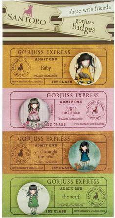 Gorjuss badge / button set - Santoro London meerleuks