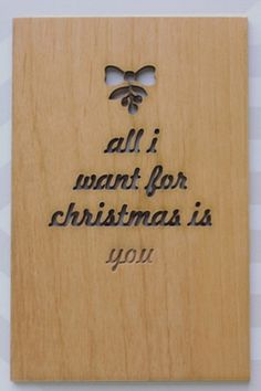 Everyone's fave Mariah cover laser-cut on certified, sustainable wood — a true work of art. #christmas