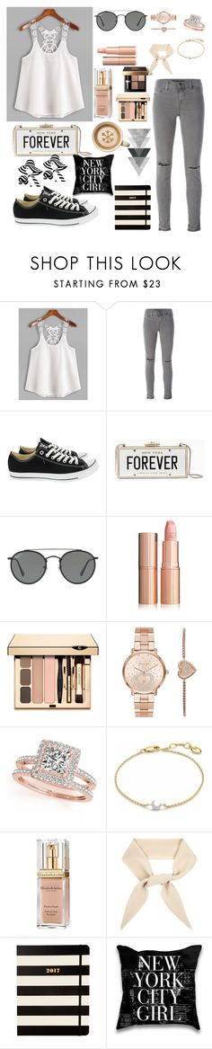 """Untitled #18"" by nihada-becirovic ❤ liked on Polyvore featuring J Brand, Converse, Kate Spade, Ray-Ban, Michael Kors, Allurez, Missoma, Bobbi Brown Cosmetics, Elizabeth Arden and Chloé"