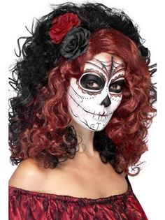 Adult Day of the Dead Wig by Fancy Dress Ball