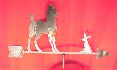 Vintage Horse - Rabbit Sheet Metal Weathervane
