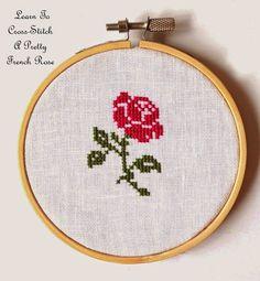 Sew French Cross Stitch Blog: French Rose Freebie