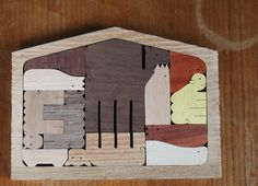Modern Nativity Wood Puzzle 12 piece Natural Wood Grain #christmas #nativity