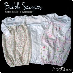 How to make these adorable bubble gowns (I loved my babies in these!)