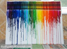 One Creative Housewife: Melted Crayon Art