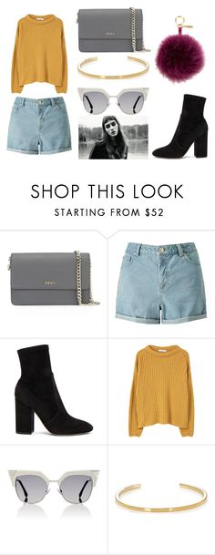 """""""PRETTY WHEN YOU CRY"""" by laura-melissa-cortes on Polyvore featuring moda, DKNY, Miss Selfridge, Valentino, MANGO, Fendi y Yves Saint Laurent"""