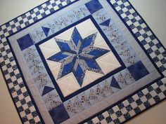ON SALE--Blue and White Quilted Wall Hanging on Etsy, $79.06