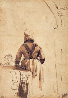 Back of a Woman by Rembrandt