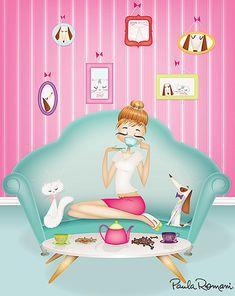 Paula Romani Illustrations - Beauty, feminine and fashion illustration