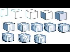 Bildergebnis für how to draw ice cubes Ice Cube Drawing, Ice Texture, Texture Drawing, Ice Art, Conceptual Photography, Food Photography, Drawing Sketches, Sketching, Elements Of Art