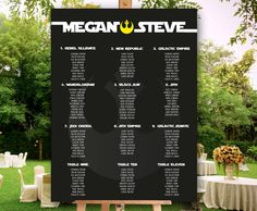 Seating Chart for wedding and parties PRINTABLE File
