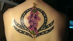 My libra tattoo, with a foxglove flower.