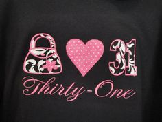 Personalized 31 Thirty One Tee Shirt Hoodie by OhSoCheekyBoutique, $34.99