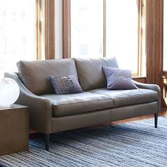 Lindrum Leather Sofa #westelm - in clove - reg 1999 on sale for 1599 + 100 surcharge