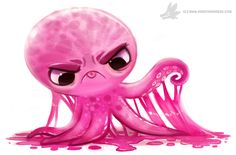 Daily Painting #935. Gummy Octopus by Cryptid-Creations.deviantart.com on @DeviantArt