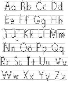 how to describe forming each letter