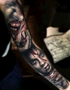 Bloody Faces Tattoo