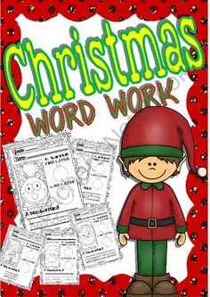 Get this fabolous Christmas creation! - 10  winners for this great product! a great start opening store!.  A GIVEAWAY promotion for Christmas Word Work for Little Kids (26 words) from magischool on TeachersNotebook.com (ends on 12-2-2013)