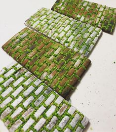 """148 Likes, 20 Comments - Julia M Usher (@juliamusher) on Instagram: """"""""Moss""""-lined """"brick"""" cookie walkways for my upcoming cookie Victorian garden scene.…"""""""