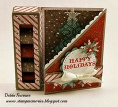 Art Philosophy Christmas card treat box from: Stampmemories with Debbi: Holiday Gift Guide Blog Hop