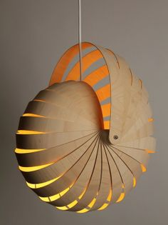Rebecca Asquith : Nautilus Hanging Lamp Shade Natural   Could I Do This  With Paper? Make Each Strip Slightly Smaller Than The Next And Put Plastic  Washers ...