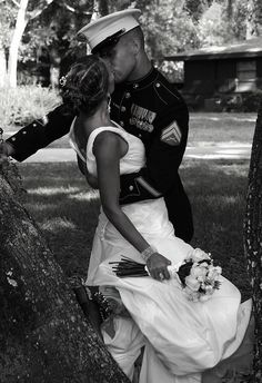 A kiss is just a kiss / God bless the Marines.