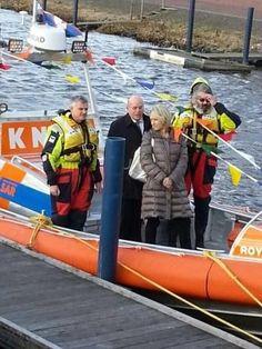 Reddingboot Oranje bij doop Royal Flush