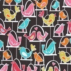 Michael Miller Bird Swing Multi Fabric Half by luckykaerufabric, $5.50