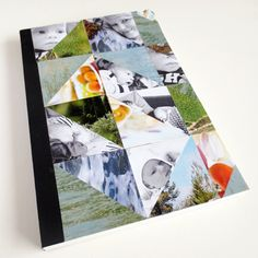 DIY - Triangle cover notebook for SMASH or regular notebook.