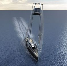 The Ankida Yacht concept was developed aiming to move away from the conventional center-line arrangement by integrating the mast, keel and sail configuration with the hull naturally. The bow like arrangement of the vessel allows effective propulsion through the rig generated force. The sail layout and its operation have been designed to cover the surface area and best possible positioning to the wind condition and direction.