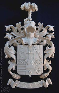Patrick Damiaens | Blasoni scolpito in legno | Scultore in araldica |http://www.patrickdamiaens.be