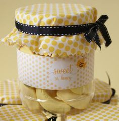 Bumble Bee theme party favour jar.